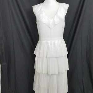 Banana Republic White Dress Size 6